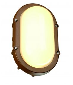 applique et plafonnier TERANG LED ovale fonte rouillée 11W LED