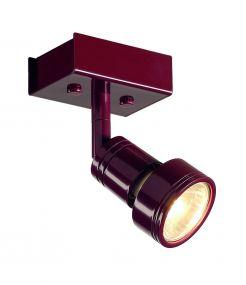 plafonnier bordeaux PURI 1 GU10 max 50W anneau déco inclus