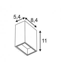 applique carrée blanche QUAD 1 XL LED - 1x32W 3000K IP44