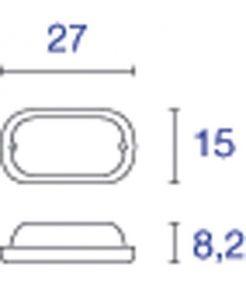 applique et plafonnier ovale fonte rouillée TERANG 2 XL 22W LED 3000K