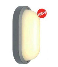 plafonnier applique ovale TERANG 2 XL gris argent 22W LED 3000K