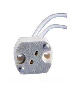 Douille halogene g4-6,35 15cm de cable