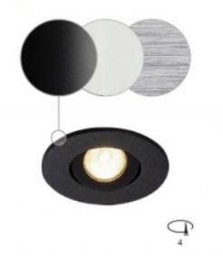 encastré NEW TRIA MINI LED rond blanc 3000K 30° clips ressorts