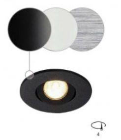 NEW TRIA MINI LED rond encastré alu brossé 3000K 30° clips ressorts