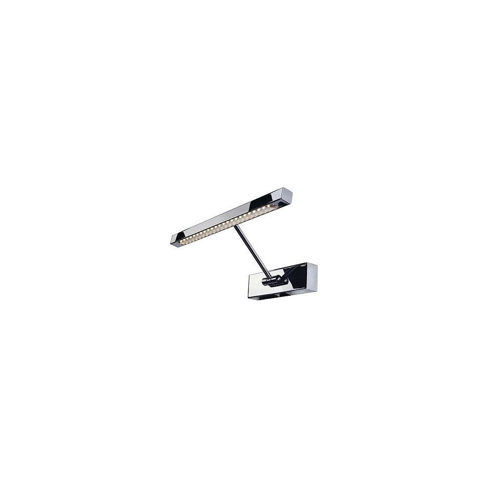 eclairage tableau bandeau led chrome avec bandeau 24 led blanc chaud slv. Black Bedroom Furniture Sets. Home Design Ideas