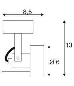 applique et plafonnier INDA SPOT GU10 bordeaux max 50W