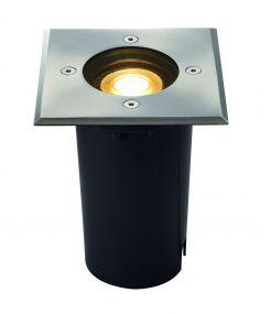 SOLASTO carré, encastré de sol LED en Inox 304, GU10 6W IP67