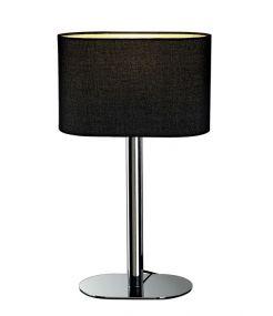 SOPRANA OVAL TL-1, lampe à poser, diffuseur noir, E27, max. 60W