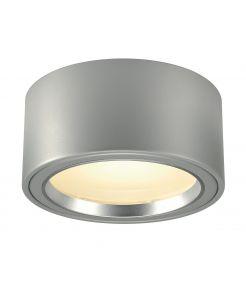 LED SURFACE SPOT rond gris argent, 48 LED, 3000K, 1800lm