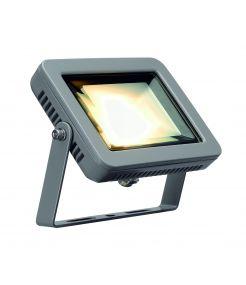 projecteur exterieur LED gris argent, SPOODI, LED 8.3W, 3000K, 760lm, IRC80