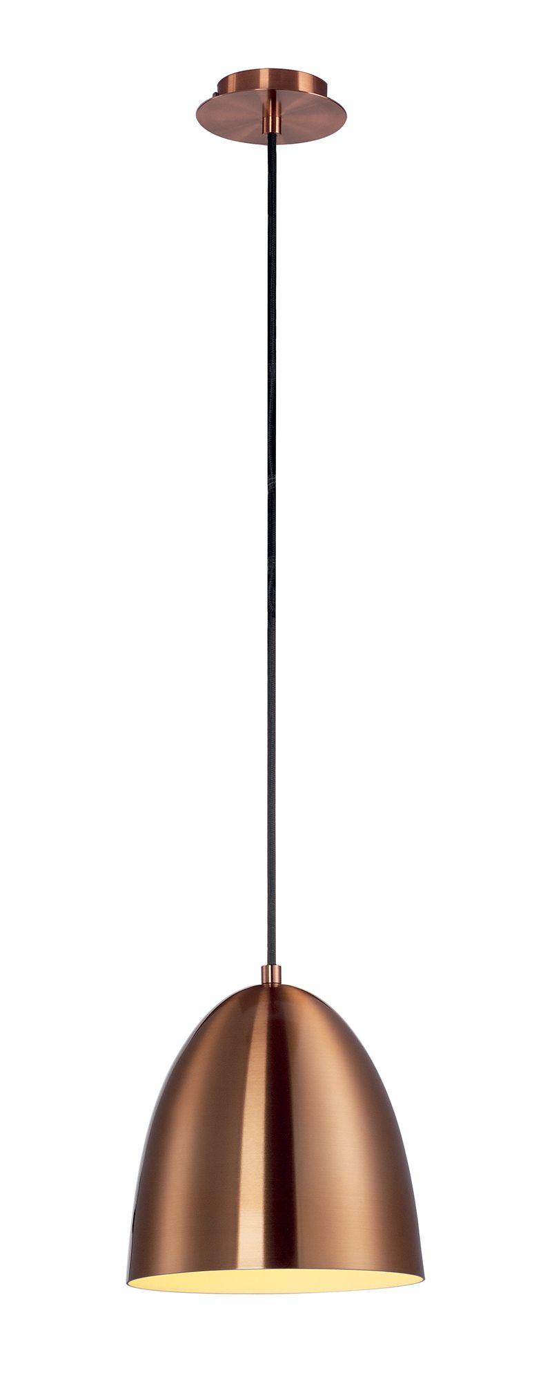 Suspension para cone 20 cuivre brosse signe slv for Suspension luminaire ronde