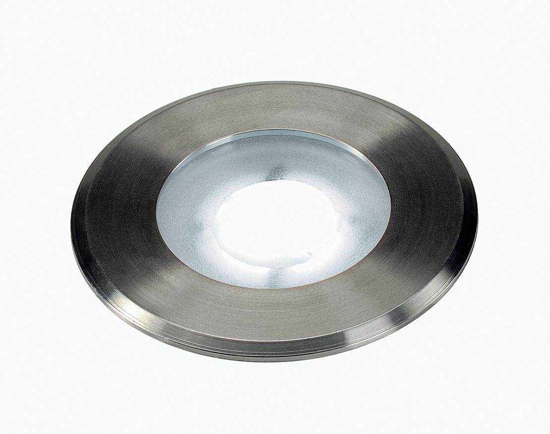 Encastr de sol dasar flat led en 4 3 w led blanche de la for Luminaire exterieur rond