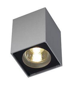 Plafonnier Altra dice gris argent/noir gu10 35w max