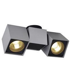 Altra dice II, plafonnier gris argent/noir gu10 2x50w max