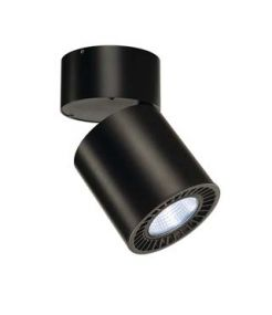 plafonnier SUPROS CL rond noir, 4000K, SLM LED, réflecteureur 60°