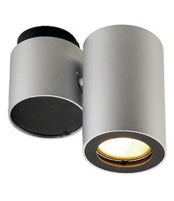 Enola b spot 1, gris argent/noir, gu10, 50w max.