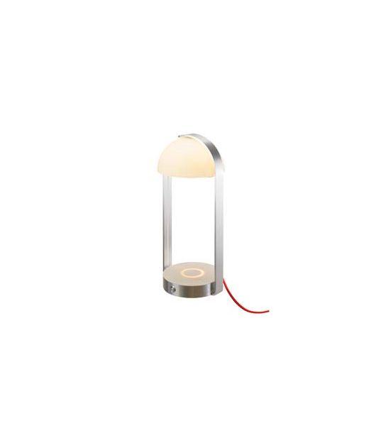 BRENDA LED, lampe à poser blanc/argent, chargement sans fil, 3000K