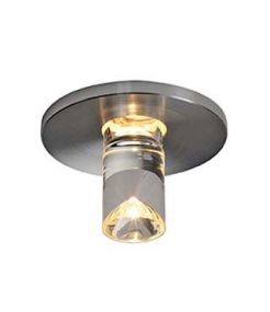 LED LIGHTPOINT encastré rond alu brossé, 1W LED