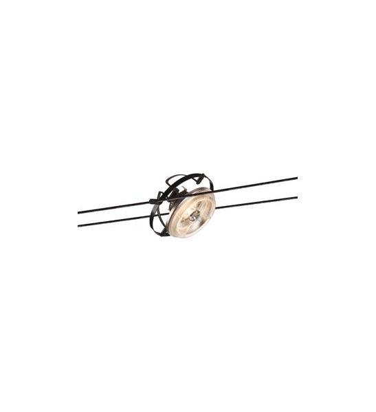 spot pour cable tendu qrb noir slv pour embellir votre interieur. Black Bedroom Furniture Sets. Home Design Ideas
