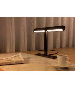 lampe a poser VINCELLI 2 LED, 2700K, bambou fonce