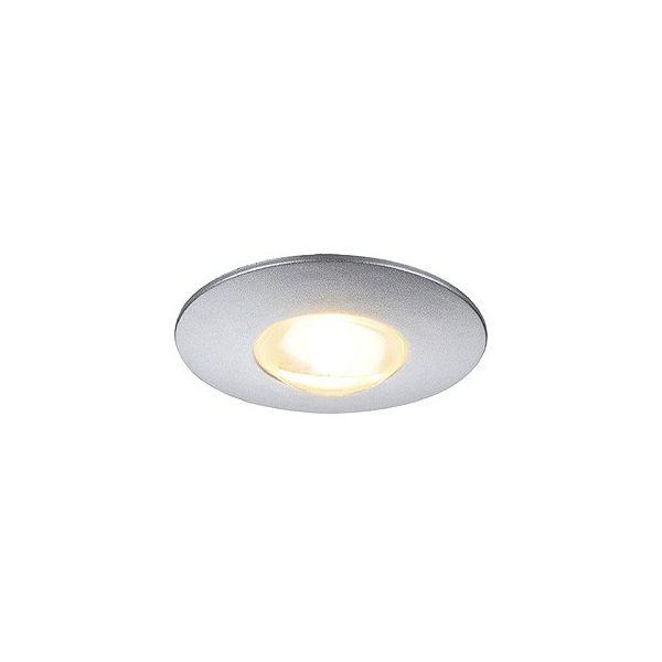spot encastrable plat gris lightpoint led 1w blanc chaud slv. Black Bedroom Furniture Sets. Home Design Ideas