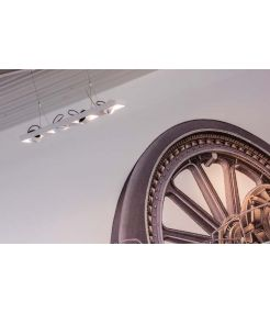LYNAH LED, suspension, quadri, blanc, LED 64W 3000K
