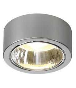 Plafonnier rond gris argent max 11w - Cl 101 GX53