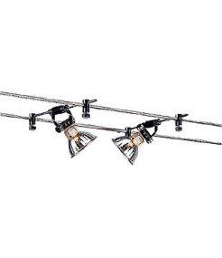 Cable tendu t.b.t., cosmic etrier orientable, 2 pieces, noir