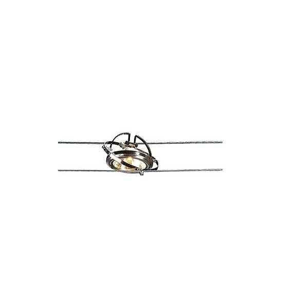 cable tendu t b t lampe qrb 50w max chrome slv. Black Bedroom Furniture Sets. Home Design Ideas