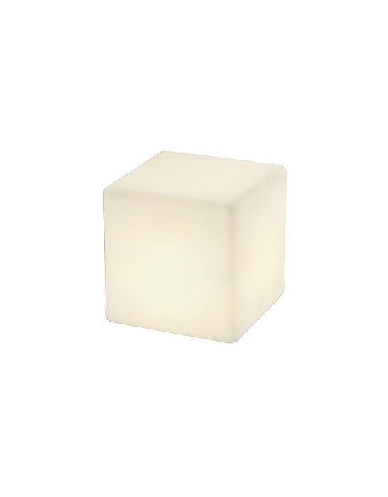 Borne dett le cube decoratif pour exterieur de declic for Cube luminaire exterieur