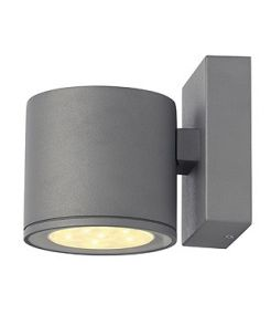 Sitra led, applique ronde, gris argent, 6x1w led blanc chaud