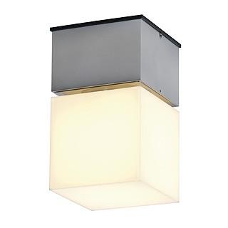 Pole carre c plafonnier e27 alu brosse slv for Luminaire exterieur carre