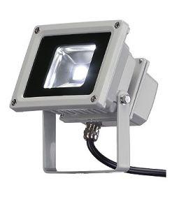 Led exterieur beam, gris argent, 10w, led blanche, 120°