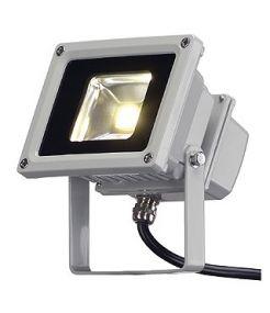 Spot Led exterieur beam, gris argent, 10w, led blanc chaud, 100°