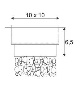 Pave led q3, 10x10cm, led blanc chaud