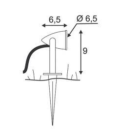 Nautilus piquet led compact, 230v, led blanche