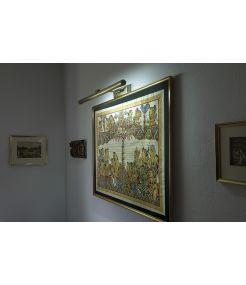 applique murale pour tableau, 13w, laiton antique