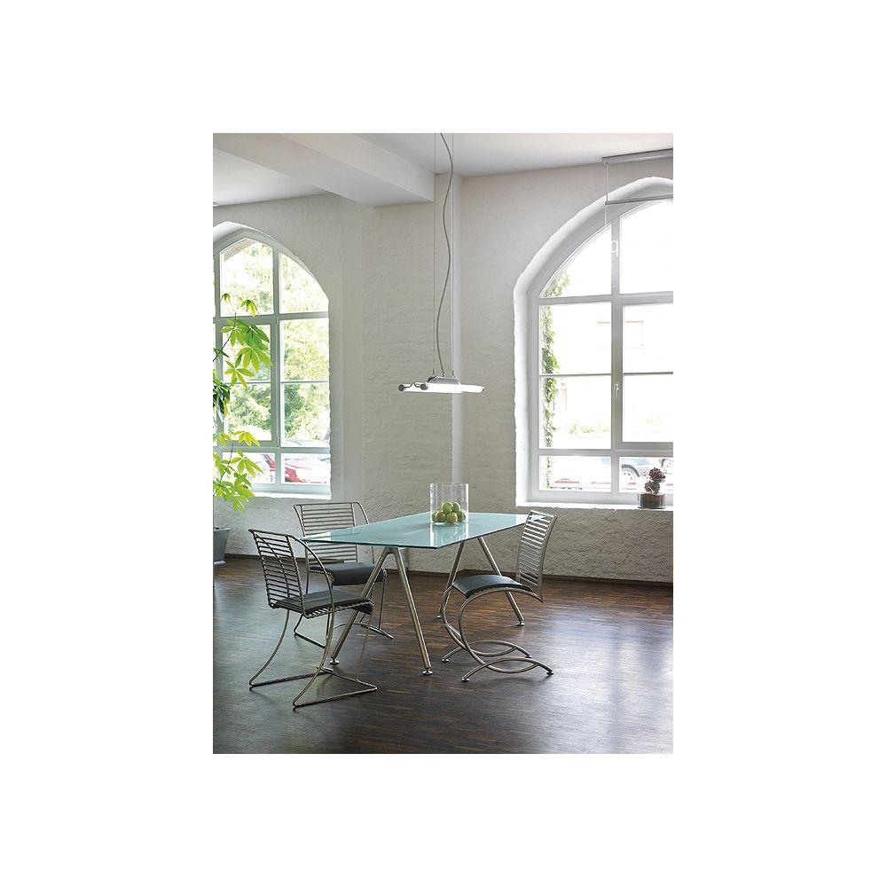 Suspension twintube gris argent t5 2x39w slv for Suspension luminaire argente