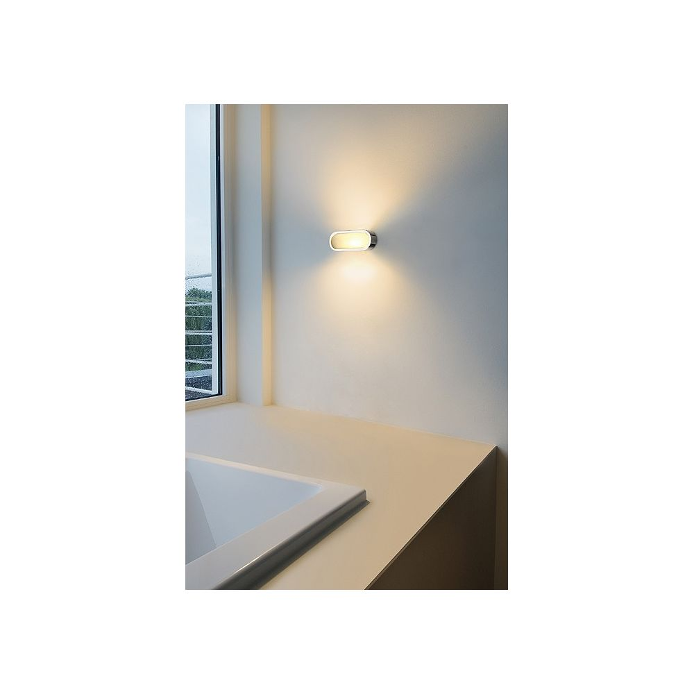 Applique new andreas declic luminaires en verre satine for Eclairage applique interieur