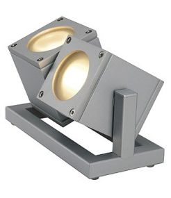 Projecteur Cubix II gris argent - gu10 - 2 x 35w max