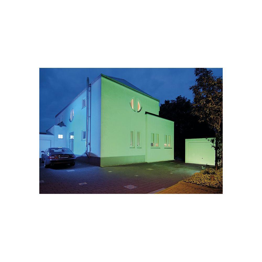 Projecteur exterieur rgb flood gris argent de slv colore for Projecteur facade exterieure