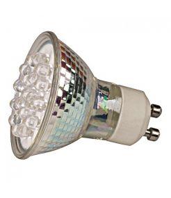LEDI LIGHT GU10 AVEC 18 LED BLANC CHAUD