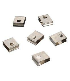 Rail 3 allumages encastre, clips rapides de fixation (6 pieces)