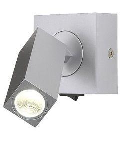 Applique Stix led gris argent avec interrupteur, 3W led blanc chaud