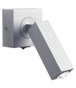 Stix led applique, 3w, gris argent, avec interrupteur, led blanche