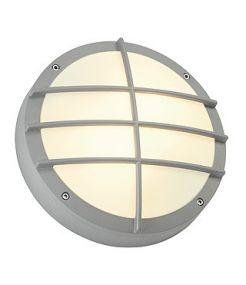 Bulan grille, applique ronde, gris argent, e27, 2x40w max