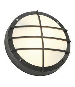 Bulan grille, applique ronde, anthracite, e27, 2x40w max
