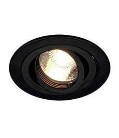 NEW TRIA GU10 ROND, encastré noir mat, max. 50W, clips ressorts
