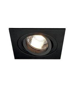 Encastré carré noir mat NEW TRIA 1 GU10, max. 50W, clips ressorts