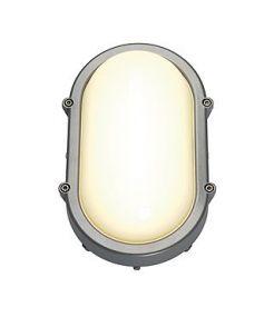 TERANG plafonnier et applique ovale gris argent, 8W
